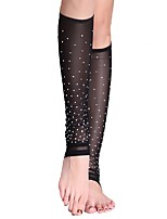 Belly Dance Stockings Women's Performance Tulle Crystals/Rhinestones Socks