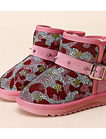 Girls' Shoes Cowhide Winter Snow Boots Boots For Casual Blushing Pink Blue Yellow Black