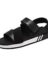 Для мужчин обувь Резина Лето Удобная обувь Сандалии Назначение Черный Черно-белый