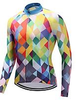 Cycling Jersey Unisex Long Sleeves Bike Jersey Quick Dry Plaid/Check Autumn/Fall Cycling Motorsports Mountain Bike/MTB Road Bike