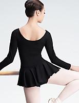 Danza classica Per donna Esibizione Elastene Maniche lunghe Naturale Abito