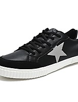 Men's Shoes Leatherette Spring Fall Light Soles Sneakers Lace-up For Casual White/Green Black/White Red White