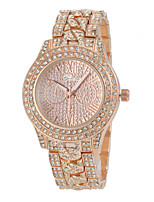 Women's Fashion Watch Simulated Diamond Watch Pave Watch Quartz Alloy Band Silver Gold Rose Gold
