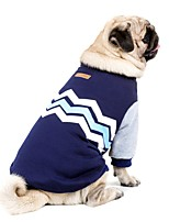 HTC One X G23 S720e Dog Sweatshirt Dog Clothes Casual/Daily Keep Warm New Year's Color Block Dark Blue Pink Costume For Pets