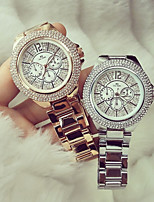 Women's Fashion Watch Unique Creative Watch Pave Watch Japanese Quartz Calendar Water Resistant / Water Proof Rhinestone Colorful