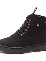 Для женщин Обувь Полиуретан Осень Зима Армейские ботинки Ботинки На низком каблуке Круглый носок Сапоги до середины икры Шнуровка
