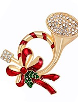 Women's Brooches Synthetic Diamond Chrismas Alloy Jewelry Jewelry For Daily Christmas