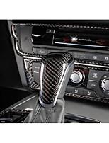 Automobile Remplacement du bouton de changement de véhicule(Fibre de Carbone)Pour Audi 2012 2013 2014 2015 A6