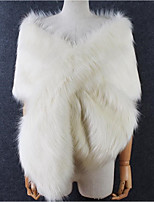 Women's Faux Fur Rectangle Solid Fall Winter