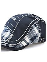 Для мужчин Винтаж На каждый день Сохраняет тепло Защита от ветра Берет Широкополая шляпа,Все сезоны Хлопок Пэчворк Вышивка