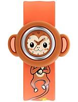 Жен. Модные часы Кварцевый силиконовый Группа Синий Красный Оранжевый Розовый Желтый