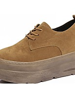 Women's Shoes PU Spring Fall Comfort Sneakers Creepers For Casual Office & Career Khaki Light Brown Black