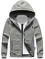 Men's Going out Hoodie Print Hooded Micro-elastic Others Long Sleeve Spring Fall