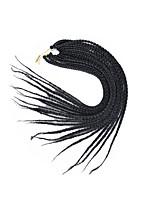 Box Braids Hair Braid Afro 100% Kanekalon Hair Medium Brown Black/Strawberry Blonde Medium Auburn Dark Brown Dark Black 24