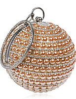 Women Bags Polyester Evening Bag Buttons Pearl Detailing for Casual All Seasons Blue Champagne Red