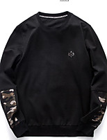 Men's Sports Holiday Sweatshirt Color Block Camouflage Round Neck Micro-elastic Polyester Long Sleeve Spring Fall