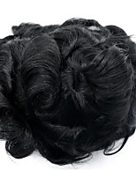 Natural Hairline Men Hairpiece 8*10inch 1b Color Body wave Hair Toupeefor Men