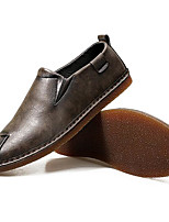 Men's Shoes Synthetic Microfiber PU Spring Fall Comfort Loafers & Slip-Ons For Casual Gray Black