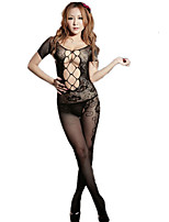 Women's Suits NightwearSexy Lace Jacquard-Thin Polyester Spandex