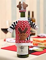 1 pcs noël décoration fournitures rouge vin bouteille couverture laine sacs