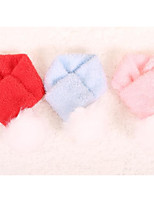 Dog Dog Scarf Dog Clothes Keep Warm Solid Red Blue Blushing Pink