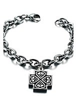 Men's Women's Chain Bracelet Punk Rock Titanium Steel Line Jewelry For Party Gift