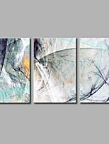 Peint à la main Abstrait Artistique Abstrait Anniversaire Cool Moderne/Contemporain Bureau / Affaires Noël Nouvel An Trois Panneaux Toile