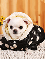 Dog Hoodie Dog Clothes Warm Casual/Daily Polka Dots Pink Costume For Pets