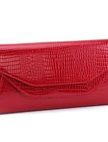 Women Bags All Seasons Cowhide Clutch Zipper for Casual Black Red