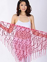 Belly Dance Hip Scarves Women's Performance Chinlon Sequin Hip Scarf