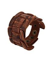 Homme Bracelets en cuir Bracelet Hip hop Elégant Cuir Forme Géométrique Bijoux Pour Soirée Cérémonie