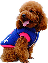 Dog Vest Dog Clothes Casual/Daily Cartoon Blushing Pink Blue