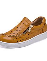 Boys' Shoes Real Leather Fall Winter Comfort Sneakers For Casual Brown Black White
