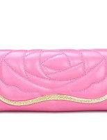 Women Bags All Seasons PU Wallet Pattern / Print for Shopping Casual Blue Black Blushing Pink Yellow