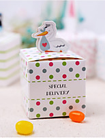 Cubic Card Paper Favor Holder With Favor Boxes
