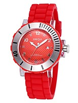 Men's Sport Watch Quartz Calendar Silicone Band Blue Red