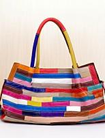 Donna Sacchetti Per tutte le stagioni Vacchetta Tote A strati per Shopping Casual Arcobaleno