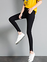 Women's Thin Stitching Solid Color Legging,Solid