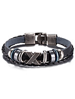 Men's Women's Leather Bracelet Friendship Punk PU Alloy Jewelry Jewelry For Daily Casual Stage Office & Career Street