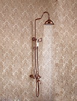 Luxury Glam Centerset Rainfall Rain Shower Handshower Included with  Ceramic Valve Rose Gold , Shower Faucet