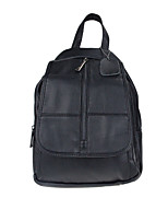 Women Bags All Seasons Cowhide Backpack Zipper for Casual Black
