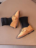 Fille Chaussures Daim Automne Hiver Confort Bottes Bottine/Demi Botte Pour Décontracté Noir Jaune