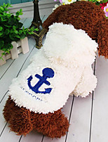 Cat Dog Dog Clothes Casual/Daily Keep Warm Halloween Christmas British Beige Red Blue Costume For Pets