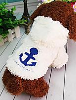 Gato Cachorro Roupas para Cães Flanela Primavera/Outono Inverno Casual Mantenha Quente Dia Das Bruxas Natal Formais Bege Vermelho Azul