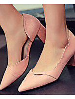 Women's Shoes Nubuck leather PU Spring Fall Basic Pump Heels Stiletto Heel For Casual Blushing Pink Gray Black