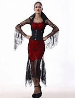 Reine Une Pièce Robes Costumes de Cosplay Bal Masqué Féminin Noël Halloween Carnaval Nouvel an Fête d'Octobre Fête / Célébration