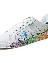 Для мужчин обувь Полиуретан Весна Осень Удобная обувь Кеды Шнуровка Назначение Повседневные Черно-белый Белый/синий Wit En Groen