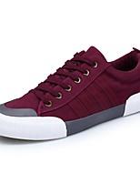 Для мужчин обувь Бархатистая отделка Полиуретан Весна Осень Удобная обувь Кеды Назначение Повседневные Черный Серый Красный Зеленый и