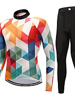 Cycling Jersey with Tights Unisex Long Sleeves Bike Clothing Suits Fast Dry Graphic Classic Fashion Autumn/Fall Cycling/Bike Orange