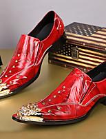 Homme Chaussures Cuir Nappa Automne Hiver Chaussures formelles Mocassins et Chaussons+D6148 Bout Métallique Pour Décontracté Soirée &